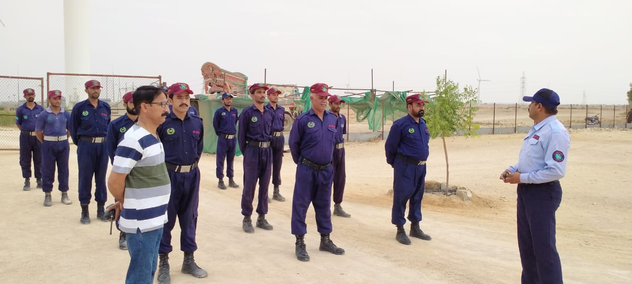 Training exercises conducted for the security staff